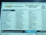2017 Chevrolet Silverado 1500 LTZ Crew Cab 4x4 Window Sticker