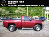 2013 Deep Ruby Metallic Chevrolet Silverado 1500 Work Truck Regular Cab 4x4 #120488127
