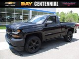 2017 Black Chevrolet Silverado 1500 WT Regular Cab 4x4 #120512231