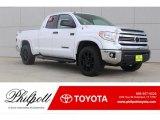 2017 Super White Toyota Tundra SR5 Double Cab 4x4 #120560675