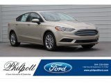 2017 White Gold Ford Fusion SE #120560652