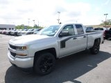 2017 Silver Ice Metallic Chevrolet Silverado 1500 Custom Double Cab 4x4 #120592390