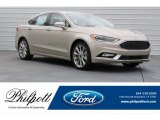 2017 White Gold Ford Fusion Platinum #120640885
