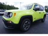 Hypergreen Jeep Renegade in 2017
