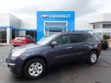 2013 Atlantis Blue Metallic Chevrolet Traverse LS #120660122