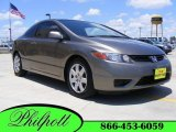 2006 Galaxy Gray Metallic Honda Civic LX Coupe #12047559