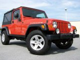 2006 Impact Orange Jeep Wrangler Unlimited Rubicon 4x4 #12034188