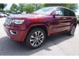 2017 Velvet Red Pearl Jeep Grand Cherokee Overland #120730586