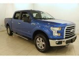 2015 Blue Flame Metallic Ford F150 XLT SuperCrew 4x4 #120738685