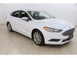 2017 Oxford White Ford Fusion Hybrid SE #120749475