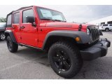 2017 Jeep Wrangler Unlimited Firecracker Red