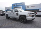 2017 Silver Ice Metallic Chevrolet Silverado 1500 Custom Double Cab #120774027