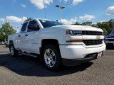 2017 Summit White Chevrolet Silverado 1500 Custom Double Cab 4x4 #120773833