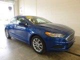 2017 Lightning Blue Ford Fusion SE #120883278