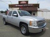 2013 Silver Ice Metallic Chevrolet Silverado 1500 LT Crew Cab #120883505