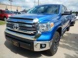 2017 Blazing Blue Pearl Toyota Tundra SR5 Double Cab 4x4 #120947019