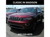 2017 Velvet Red Pearl Jeep Grand Cherokee Limited 4x4 #120990194