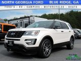 2017 White Platinum Ford Explorer Sport 4WD #121010445