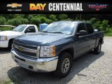 2013 Blue Granite Metallic Chevrolet Silverado 1500 LS Crew Cab 4x4 #121036255