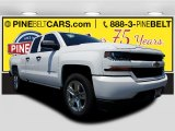 2017 Summit White Chevrolet Silverado 1500 Custom Double Cab #121059101