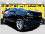 2017 Black Chevrolet Silverado 1500 Custom Double Cab 4x4 #121059114