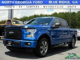 2015 Blue Flame Metallic Ford F150 XLT SuperCrew 4x4 #121085435