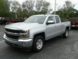 2017 Silver Ice Metallic Chevrolet Silverado 1500 LT Double Cab #121132693