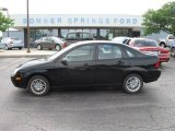 2005 Pitch Black Ford Focus ZX4 SE Sedan #12106786