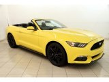 2016 Triple Yellow Tricoat Ford Mustang EcoBoost Premium Convertible #121221513