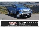 2017 Blazing Blue Pearl Toyota Tundra SR5 Double Cab 4x4 #121246370