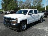2017 Summit White Chevrolet Silverado 1500 WT Crew Cab #121249006