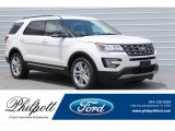 2017 White Platinum Ford Explorer XLT #121248075