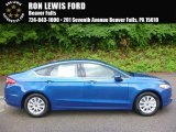 2017 Lightning Blue Ford Fusion S #121249827