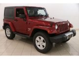 2011 Deep Cherry Red Crystal Pearl Jeep Wrangler Sahara 4x4 #121247103