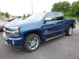 2017 Deep Ocean Blue Metallic Chevrolet Silverado 1500 High Country Crew Cab 4x4 #121248814
