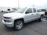 2017 Silver Ice Metallic Chevrolet Silverado 1500 Custom Double Cab 4x4 #121248801