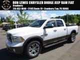 2017 Bright White Ram 1500 Laramie Longhorn Crew Cab 4x4 #121245104