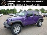 2017 Extreme Purple Jeep Wrangler Unlimited Sport 4x4 #121249455