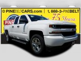 2017 Summit White Chevrolet Silverado 1500 Custom Double Cab 4x4 #121245830