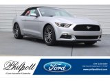 2017 Ingot Silver Ford Mustang EcoBoost Premium Convertible #121245022