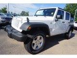 2017 Bright White Jeep Wrangler Unlimited Sport 4x4 #121258613