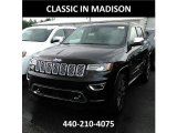 2017 Diamond Black Crystal Pearl Jeep Grand Cherokee Overland 4x4 #121250009