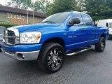 2007 Electric Blue Pearl Dodge Ram 1500 SLT Quad Cab 4x4 #121652388