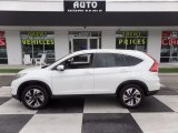 2015 White Diamond Pearl Honda CR-V Touring #121687237
