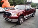 2006 Dark Toreador Red Metallic Ford F150 XLT SuperCab 4x4 #12118840