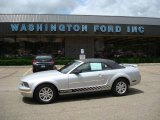 2006 Satin Silver Metallic Ford Mustang V6 Deluxe Convertible #12134612