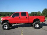 2003 Red Clearcoat Ford F250 Super Duty XLT Crew Cab 4x4 #12132707