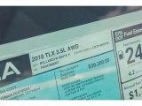 2018 Acura TLX V6 SH-AWD Sedan Window Sticker