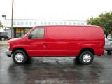 2008 Ford E Series Van Vermillion Red
