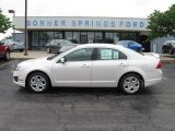 2010 White Platinum Tri-coat Metallic Ford Fusion SE #12136196